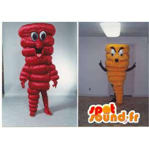 Červená a žlutá paprika pepř kostým