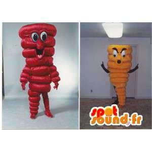 Costumes de poivron rouge et poivron jaune