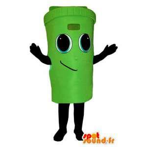 Kostüme die einen öffentlichen Papierkorb