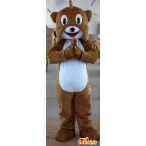 Mascotte chien écureuil marron - Peluche animale de la forêt