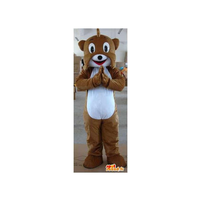 茶色の犬のマスコットリス - 動物ぬいぐるみの森 - MASFR00324 - 犬マスコット