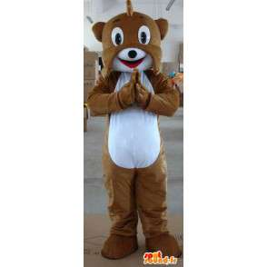 Bruine hond mascotte eekhoorn - Pluche Forest - MASFR00324 - Dog Mascottes