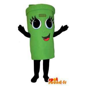Een openbare prullenbak vertegenwoordiger Disguise - MASFR004361 - mascottes Huis