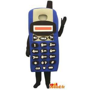 Κοστούμια αντιπροσωπεύουν ένα κινητό τηλέφωνο