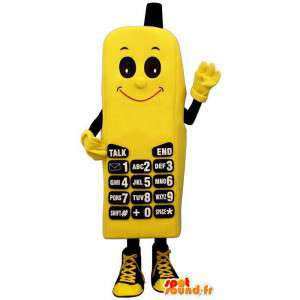 Yellow telephone mascot - Disguise multiple sizes - MASFR004371 - Mascottes de téléphone