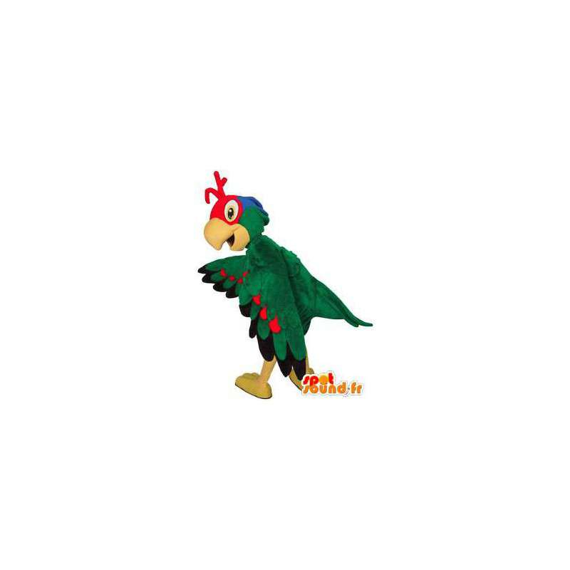 Multicolored bird mascot. Colorful bird costume - MASFR004492 - Mascot of birds