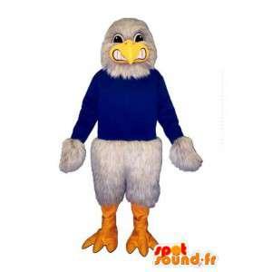 Mascotte d'oiseau/d'aigle gris géant - Personnalisable toutes tailles
