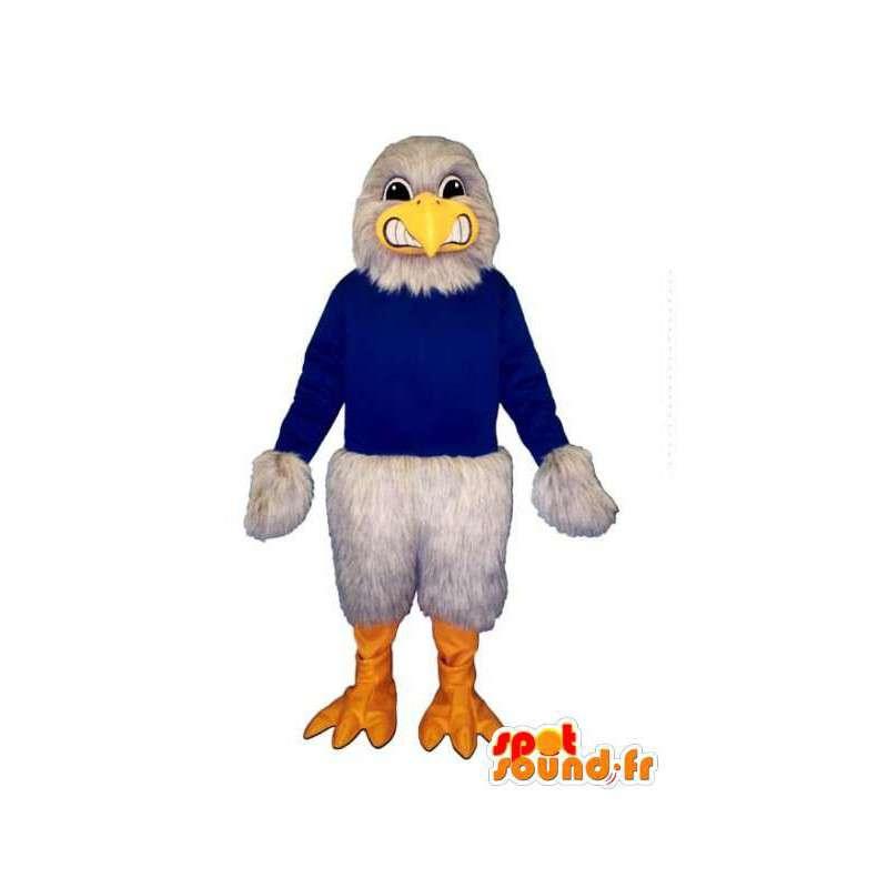 Mascotte d'oiseau/d'aigle gris géant - Personnalisable toutes tailles - MASFR004497 - Mascotte d'oiseaux