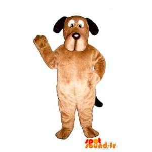 Beige koira maskotti lasit. koira Costume - MASFR004504 - koira Maskotteja