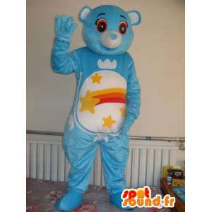 Bear mascot starry blue - Plush teddy bear costume for party