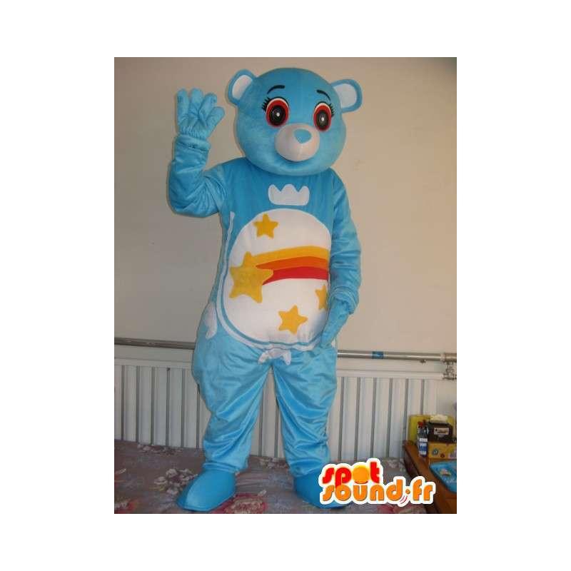 Μασκότ έναστρο μπλε αρκούδα - Λούτρινο αρκουδάκι βραδινό φόρεμα - MASFR00331 - Αρκούδα μασκότ