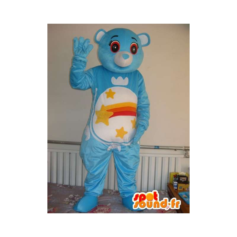 Mascotte Ours bleu étoilé - Peluche ourson en costume pour soirée - MASFR00331 - Mascotte d'ours