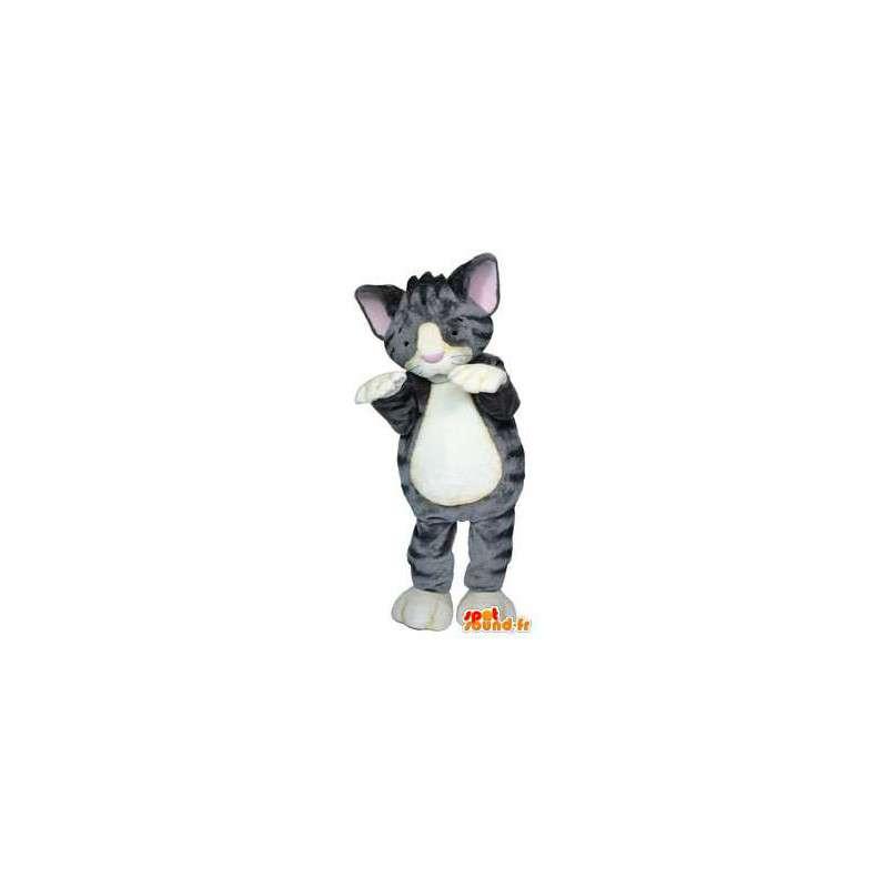 Mascotte de chaton gris. Costume de chaton - MASFR004526 - Mascottes de chat