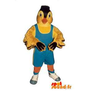 Yellow bird mascot. Canary costume - MASFR004556 - Mascot of birds