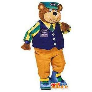 Mascotte d'ours habillé en facteur. Costume de facteur - MASFR004563 - Mascotte d'ours