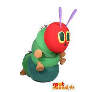 Verde mascote e lagarta vermelho. traje lagarta - MASFR004574 - mascotes Insect