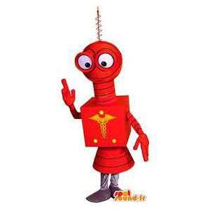 赤いロボットのマスコット。赤いロボットコスチューム-MASFR004595-ロボットのマスコット