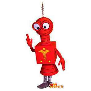Red robot mascot. Red robot costume - MASFR004595 - Mascots of Robots
