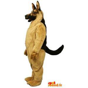 German shepherd mascot very realistic. Dog costume - MASFR004602 - Dog mascots
