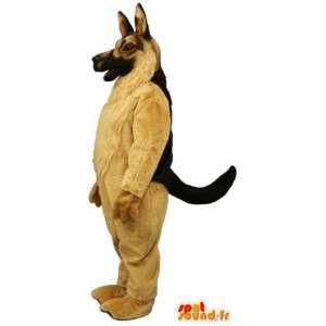 Maskottchen-Schäferhund sehr realistisch.Hundekostüm - MASFR004602 - Hund-Maskottchen