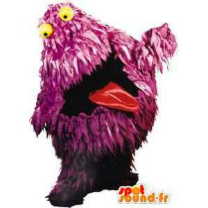 Mascot purple monster with yellow eyes - MASFR004611 - Monsters mascots