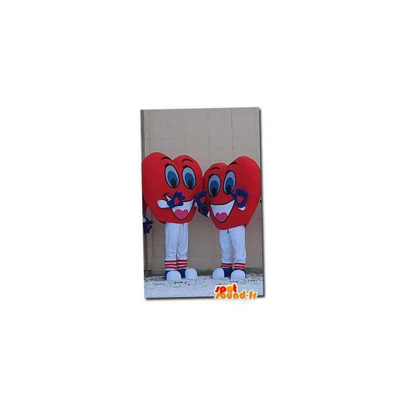 Mascottes vormige harten. 2 Pack kostuum hart - MASFR004615 - Niet-ingedeelde Mascottes