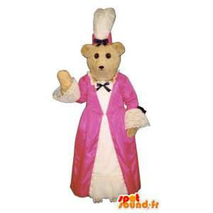 Bear maskotti pukeutunut perinteiseen Breton puku - MASFR004620 - Bear Mascot
