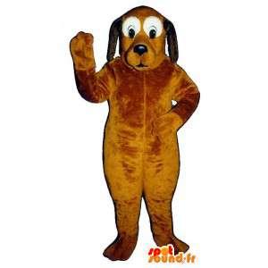 Orange hundemaskot, sort og hvid. Hundedragt - Spotsound maskot