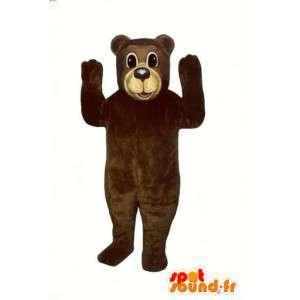 Mascotte d'ours géant en peluche. Costume d'ours - MASFR004640 - Mascotte d'ours