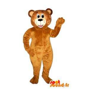 Maskotti oranssi karhua. Orange Bear Suit - MASFR004645 - Bear Mascot