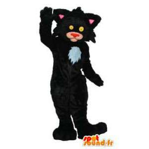 Musta kissa maskotti. kissa perässä - Muokattavat