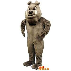 Grijze bulldog mascotte. Disguise bulldog - MASFR004664 - Dog Mascottes
