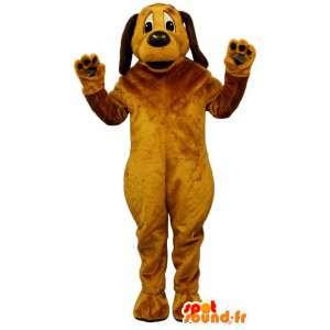 Gul-orange hundmaskot. Hunddräkt - Spotsound maskot