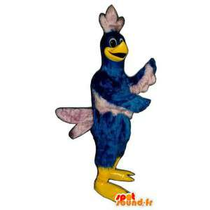 Mascot bird blue and white giant. Bird costume