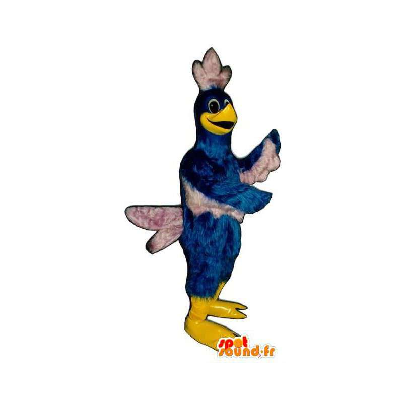 Mascot bird blue and white giant. Bird costume - MASFR004666 - Mascot of birds