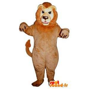 ライオンのマスコットのぬいぐるみ。ライオンコスチューム