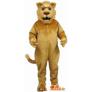 Lev maskot. Lion Kostým - Nastavitelné velikosti