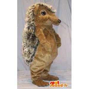 Riccio mascotte marrone e beige. Hedgehog Costume - MASFR004691 - Mascotte Hedgehog
