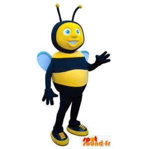 Mascot bee black and yellow. Bee costume - MASFR004717 - Mascots bee