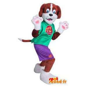 Koira maskotti pukeutunut urheiluvaatteet - MASFR004730 - koira Maskotteja