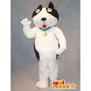 Svart og hvit hund maskot. Dog Costume - MASFR004731 - Dog Maskoter