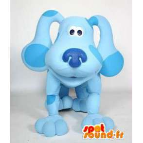 Blauwe hond mascotte plezier. Dog Costume - MASFR004737 - Dog Mascottes
