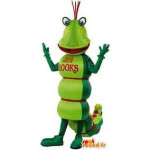 Green caterpillar mascot. Caterpillar costume - MASFR004741 - Mascots insect