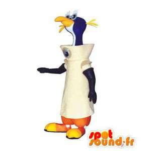 Astronaut tučňák maskot. Penguin suit kosmonaut