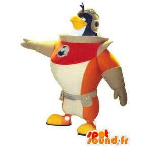 Mascotte d'oiseau astronaute. Costume de pingouin cosmonaute - MASFR004763 - Mascotte d'oiseaux