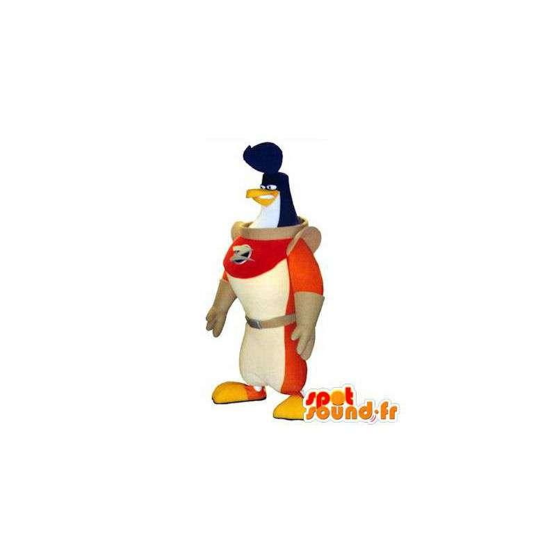Mascotte de pingouin astronaute. Costume d'oiseau cosmonaute - MASFR004764 - Mascotte d'oiseaux