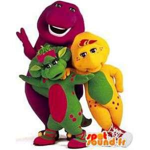 Mascots colorful dinosaurs. Pack of 3 dinosaurs - MASFR004779 - Mascots dinosaur