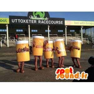 Mascotte de pintes de bière géantes. Pack de 5 costumes