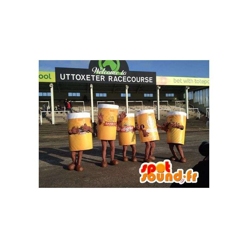 Mascot pints of beer giant. Pack of 5 suits - MASFR004796 - Fast food mascots