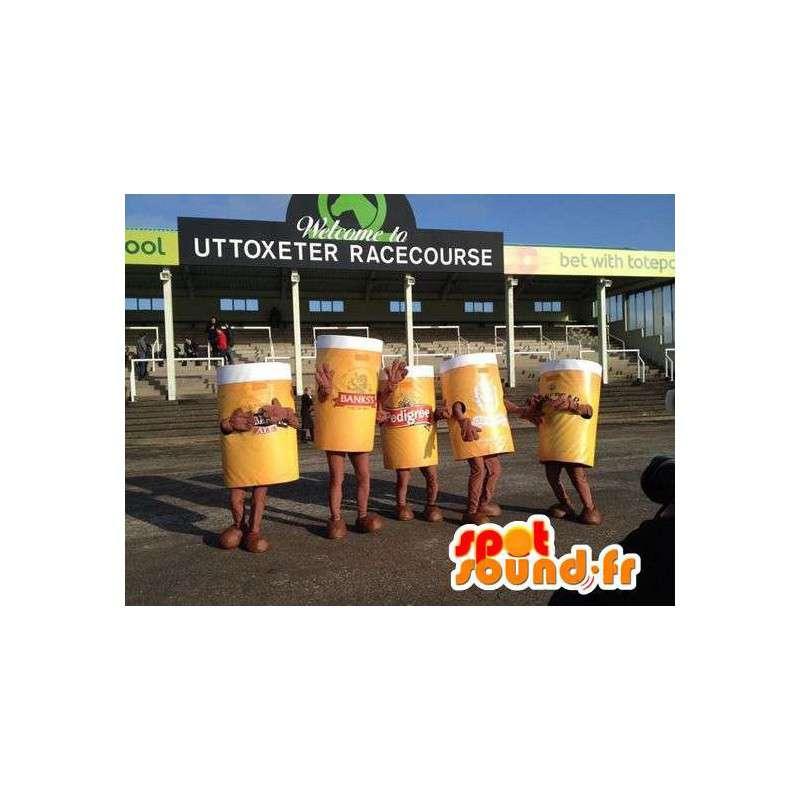 Mascotte de pintes de bière géantes. Pack de 5 costumes - MASFR004796 - Mascottes Fast-Food